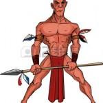 9701479-caricature-de-guerrier-mohawk-avec-une-lance-isol-sur-fond-blanc