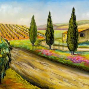 50824629-beau-paysage-de-vignobles-en-toscane-italie-centrale-illustration-originale-
