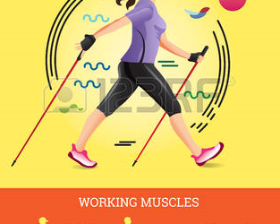 72168391-vector-illustrated-infographics-poster-for-nordic-walking-the-flat-illustration-of-sport-hiking-woma