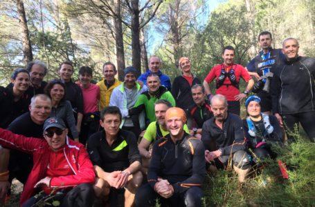 Sortie du groupe coureurs Graveyron-Devès- 3 Evêques